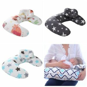 Cotton-Newborn-Baby-Infant-Pillow-Positioner-Prevent-Flat-Head-Anti-Roll-Home-UK