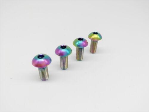 Titanium Ti Water Bottle Cage M5x12mm Bolt Button Head Allen Key Screw 4pcs