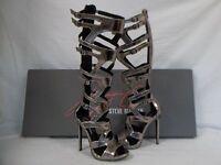 Keyshia Cole Steve Madden 8.5 M Maven Pewter Gladiator Heels Womens Shoes