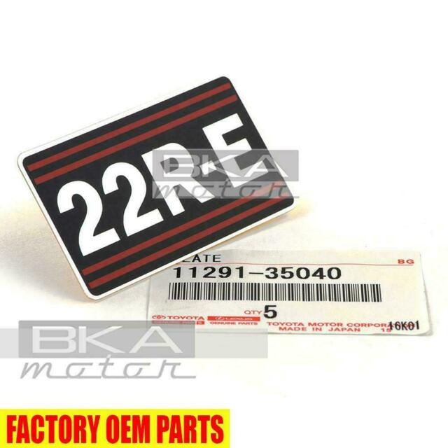 Toyota 22RE Engine Decal Genuine OEM      11291-35040