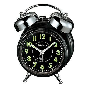 Casio Tq362 1a Blackwhite Desk Top Bell Snooze Alarm Quartz Clock