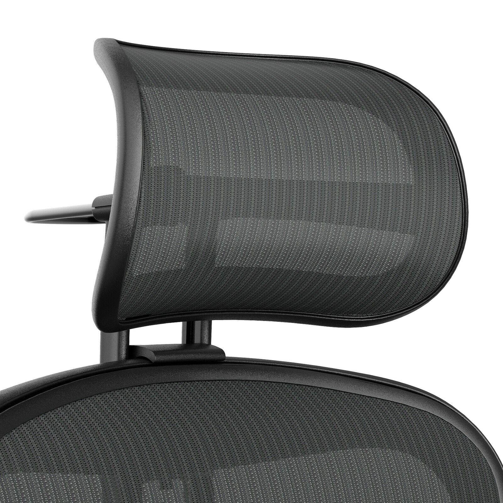 Atlas Suspension Headrest for Herman Miller Aeron Chair - Remastered  Graphite