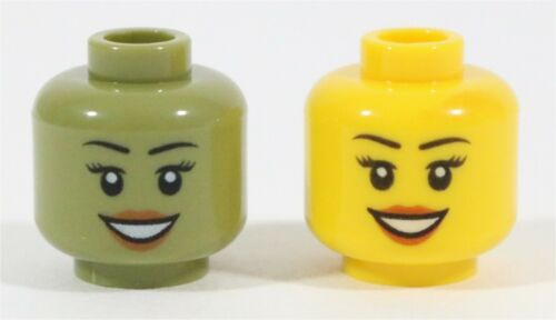 RARE LEGO ERROR NYA MINIFIGURE HEAD PART OLIVE GREEN HEAD NINJAGO TEST PRINT