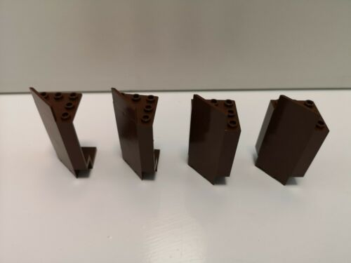 2345 Good Condition 4 Brown Panel 3 x 3 x 6 Corner Wall Lego Castle