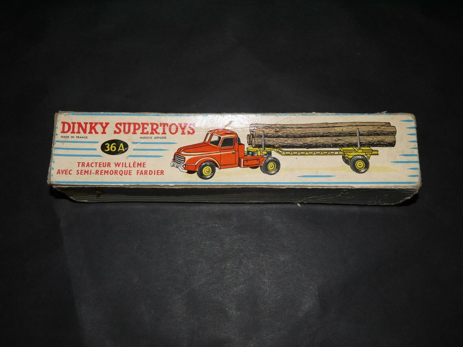 DINKY TOYS SUPERTOYS TRACTEUR WILLEME FARDIER REF 36A + BOITE