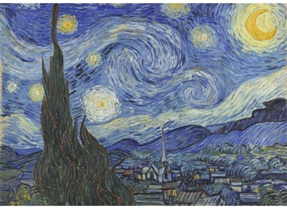 Wentworth Starry Night 250 Piece Vincent van Gogh Wooden Jigsaw Puzzle