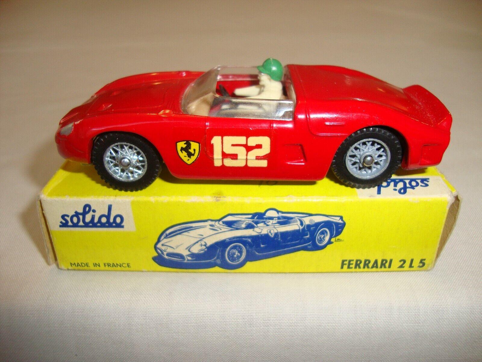 SOLIDO 129 Ferrari 2 L  5-nr Comme neuf in original box  100% de contre-garantie authentique