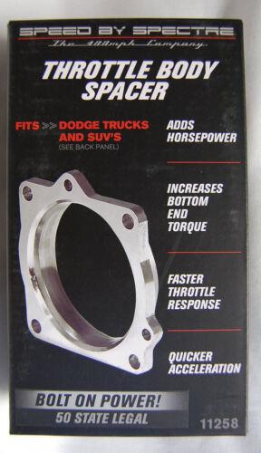 Spectre 11258 Aluminum Throttle Body Spacer Plate 2003-08 Dodge 5.7 Ram Durango