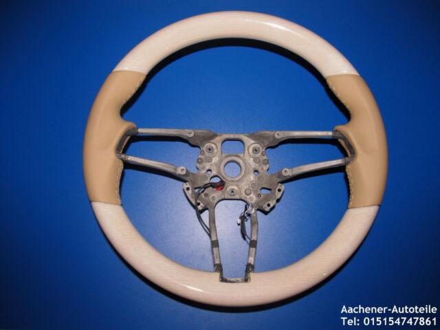Porsche 991 981 970 95B 958 Multifunzione Tiptronic Volante in pelle Legno Beige