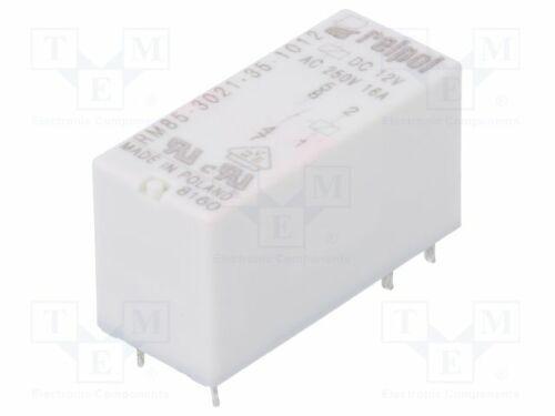 Relais elektromagnetisch USpule 12VDC SPST-NO  16A//250VAC RM85-3021-35-1012 E