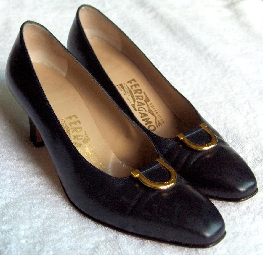 Vintage Salvatore FERRAGAMO couture ladies schuheNavy schuheNavy schuheNavy Blau pumpsorig box-NR 98a31f