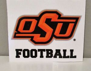 detailed look cef72 fac7b Image is loading BRAND-NEW-Oklahoma-State-Cowboys-Football-Static-Cling-