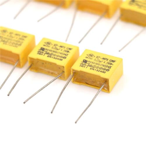 10 Pcs AC 275V 0.47uF Polypropylene Film Safety Capacitor DSBE