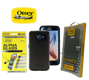OtterBox-Case-for-Samsung-Galaxy-S6-Symmetry-Series-New-Free-ALPHA-GLASS