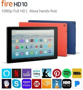 """Amazon Fire HD 10 (7th Gen) Tablet with Alexa, 10.1"""" 1080p Full HD Display- New!"""