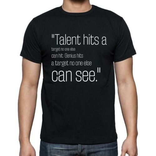 """Arthur Schopenhauer citation,/""""Talent hits a targ/"""" t shirt homme,noir"""