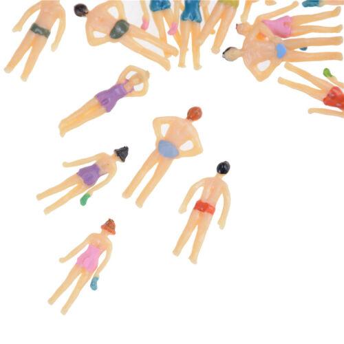 75 gemalte Model Beach Schwimmer Menschen Figuren Zug Gebäude WH 20pc Mixed 1