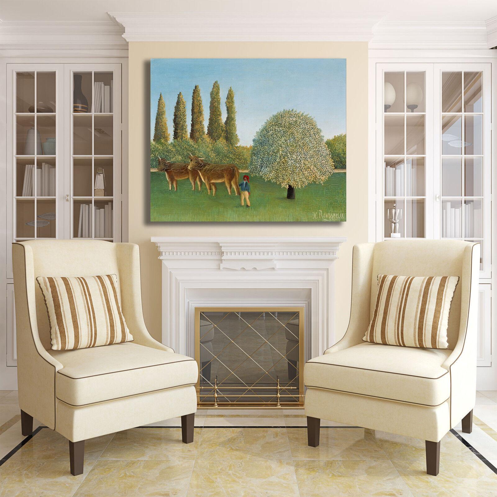 Rousseau Rousseau Rousseau prato design quadro stampa tela dipinto telaio arrossoo casa 5b2c7a