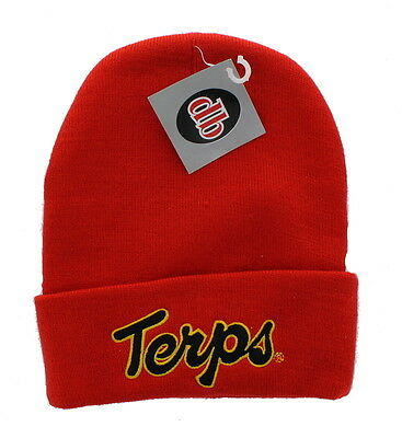 New Maryland Terrapins Embroidered Beanie Hat Cuffed Knit Skull Cap