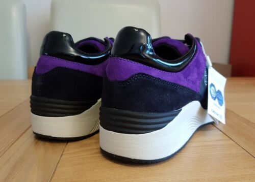 Low Top Omaya Trainers Navy Respira Glitter Womens Suede Geox Purple A awT8aqA