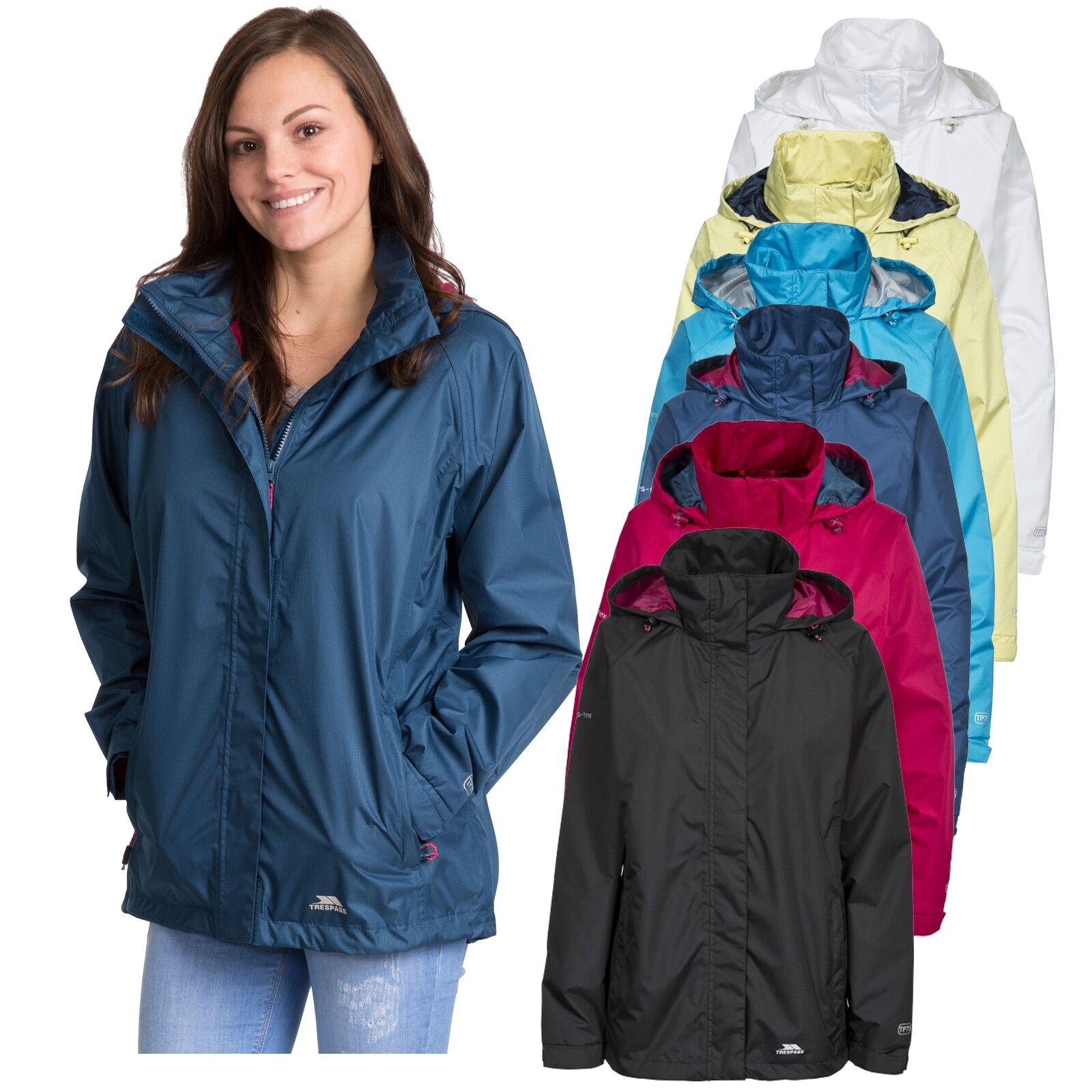 Trespass Womens Waterproof Jacket Ladies Raincoat XXS - XXXL Lanna II