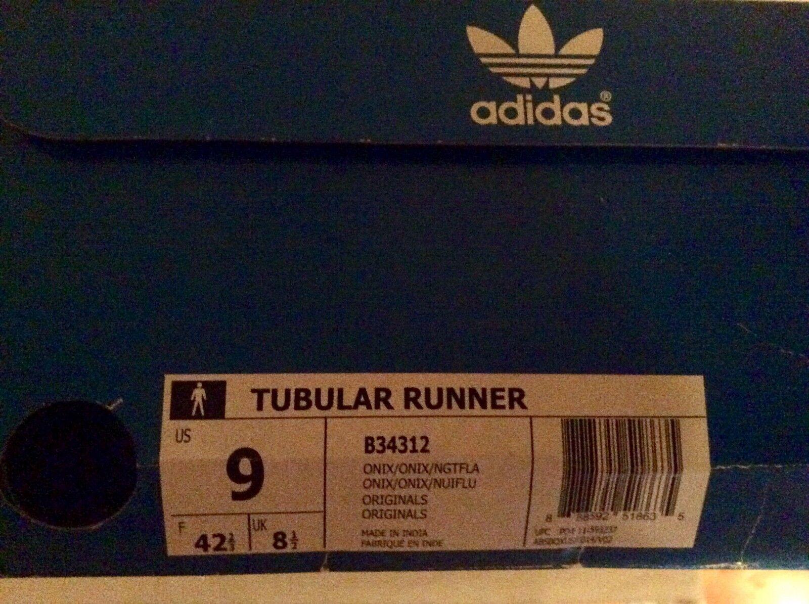 männer adidas grauen läufer, tubuläre läufer, grauen größe 9. 024783