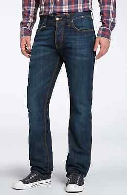 Herrlich Nudie Herren Regular Fit Jeans Hose |average Joe Navy Embo | W30 & W31 Ohne RüCkgabe