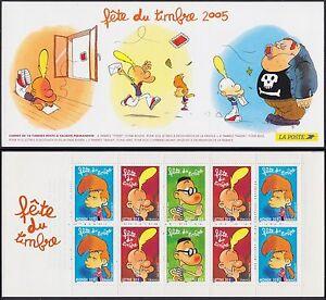 2005-FRANCE-Carnet-BC3751a-vendu-a-la-faciale-FETE-du-TIMBRE-Titeuf-Booklet-NH
