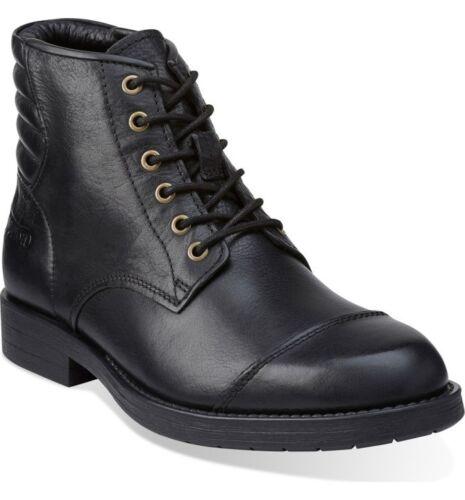Clarks /& Norton Men ** NORTON PACE ** Black Biker Boots Lace ** UK 7,8,9,10 G