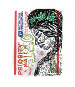 Details about Weed 420 Flower Crown Girl 3 Street Art Sticker Graffiti  Drawing Priority Mail