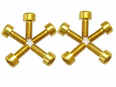 Water Bottle Cage Anodizing M5x12mm Bolts Gold 4pc Set