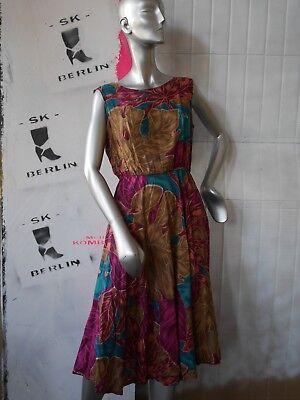 Abito S M Abito Estivo 60er Hawaii 50er Fiori Rockabilly True Vintage Sun Dress-mostra Il Titolo Originale