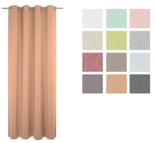 Fertigvorhang Ösenschal Fenstervorhang Seitenschal Schal Sunday beige 5 Größen