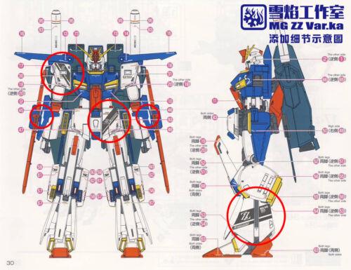 XY water decal for MG MSZ-010 ZZ Gundam Ver Ka Gundam ZZ water decal