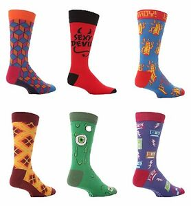 6 Pack Kids Boys /& Girls Colorful Thin Crazy Funny Funky Cotton Rich Crew Socks
