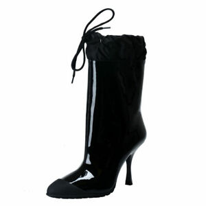 Miu-Miu-Patent-Leather-High-Heel-Ankle-Boots-Shoes-Sz-6-7-7-5-8-9-9-5-10-5