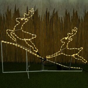 Natale-192-LED-Renna-Rope-Light-Up-GIARDINO-INTERNI-ESTERNI-struttura-in-metallo-Set