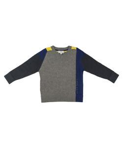 Hugo-Boss-Jungen-Pullover-grau-Langarm-Shirt-Sweatshirt-NP-122