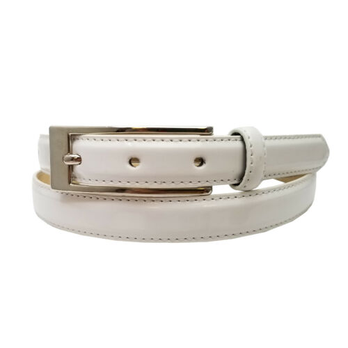 Candy Color Skinny Patent Leather Belt