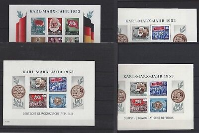 1153 Deutschland Ddr Karl Marx Freie Auswahl Aus Block 8-9** A Oder B Mit Wz Yi Oder Yii 100% Hochwertige Materialien
