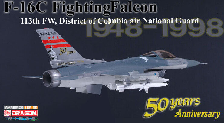 Dragon Wings 50033 F-16C Fighting Falcon USAF 50 ans District de Columbia. 1 72.