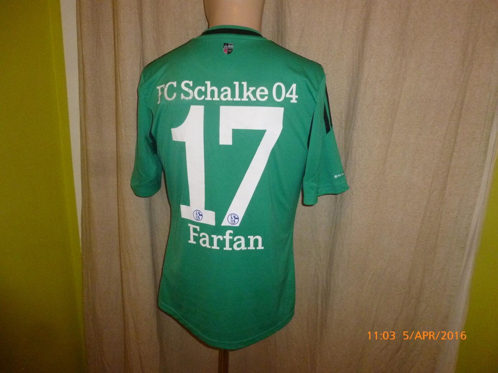FC Schalke 04 Adidas Ausweich Trikot 2013 2013 2013 14  GAZPROM  + Nr.17 Farfan Gr.S 50a6d8