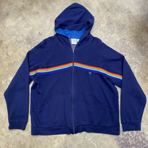1980s Ocean Pacific OP Weather Wear Vintage Rainbo