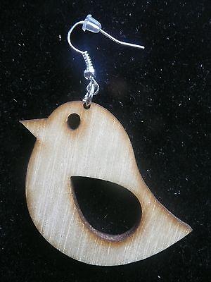 Wooden earrings kit animals, birds, cat laser cut for crafts decoupage