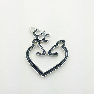 Free Shipping 2pcs black Browning Deer Alloy Metal Charms New Pendants #