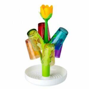 Vigar-Dolls-Flower-Power-Glaesertrockner-Tassentrocker-Blumendesign-Glaeserhalter