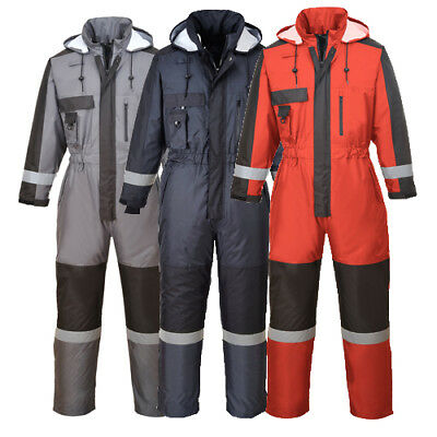 Portwest Hi-Vis Combinaison de contraste Thermique Doublée Imperméable Suit Work Wear S485
