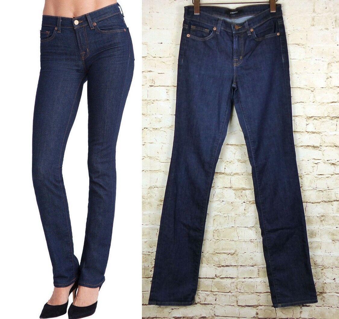 J Brand 814 Mid Rise Cigarette Leg Jeans Straight Slim Pure Dark Wash Sz 27  198