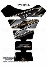 Yamaha YZF R1 / R6 Black Gold Motorcycle Tank Pad Motografix 3D Gel Protector