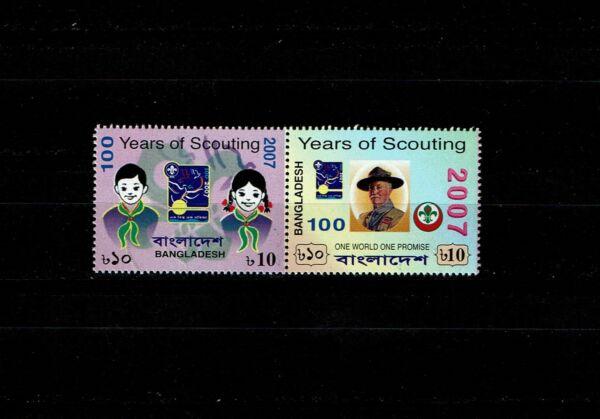 Bangladesh 2007-scout Centenaire Se Tenant Paire Neuf Sans Charnière Bon Pour L'éNergie Et La Rate